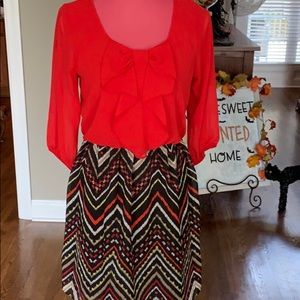 A Byer size small dress with chevron pattern & bow